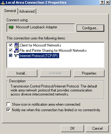 Select the Internet Protocol on the second section of the screen and click properties