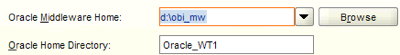 Specify the location of your oracle middleware home and the name of your new web tier oracle home directory