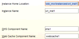 Confirm the instance name, location