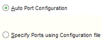 Allow the installer to perform automatic port configuration using the default port numbers for services