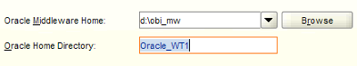 Point the installer to the location of your middleware home and enter the name of the Web Tier home to be patched
