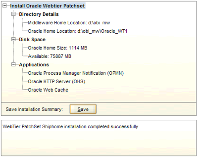Review the install summary screen and click finish to complete the software upgrade process